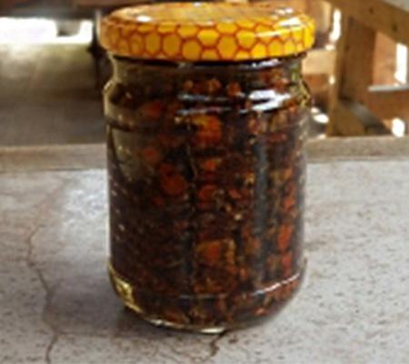 Перга в сотах консервована медом